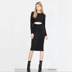 Zara midi Black dress